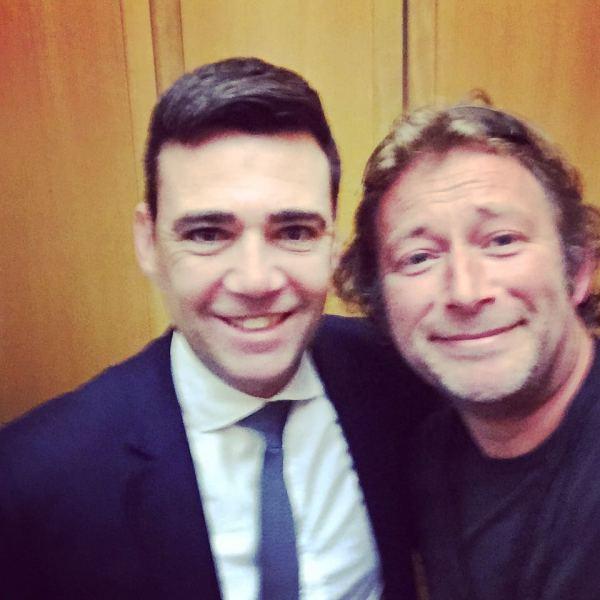 Jim & Andy Burnham Selfie