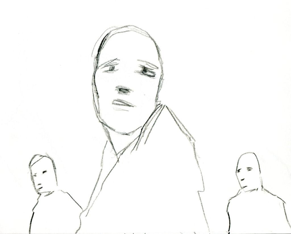 3 faces sketch 151