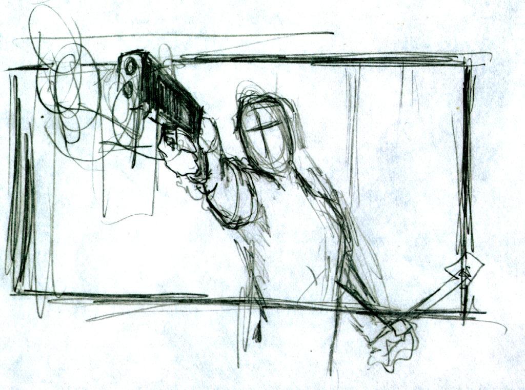 Doodles Gunman Sketch